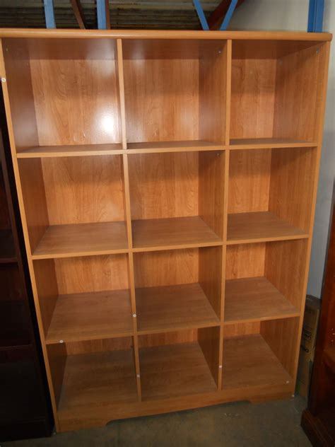 realspace magellan 12 cube bookcase honey maple 550437