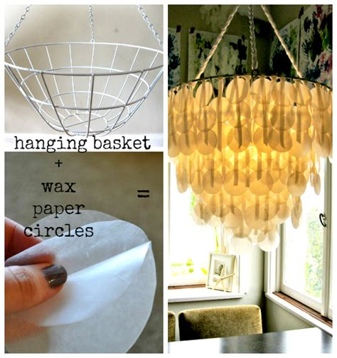 wax paper chandelier upcycle wax paper chandelier the refab diaries