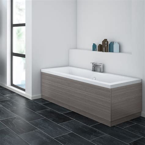 Bath Shower Rail brooklyn grey avola bath panel wood effect various