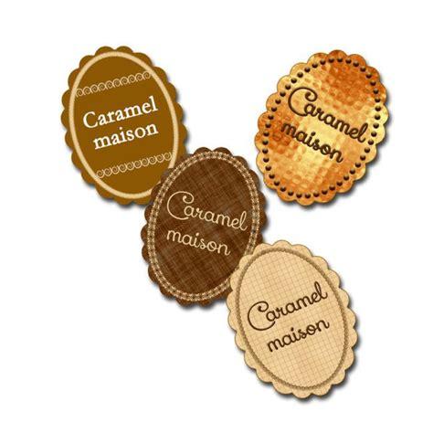 etiquette fait maison jolies etiquettes a imprimer caramel liquide etiquettes