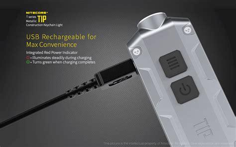 Senter Led Usb nitecore tip senter led mini usb rechargeable cree xp g2