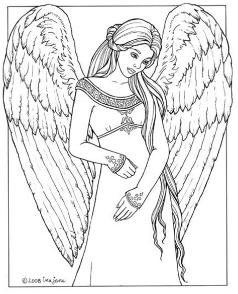 coloring page angels beautiful angel coloring pages for adults coloring pages