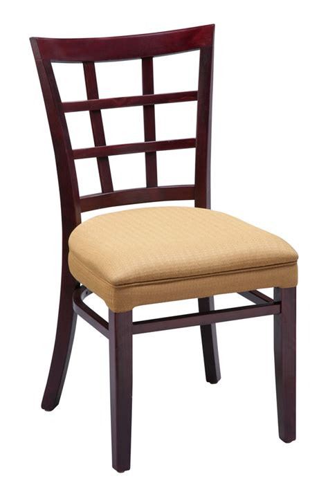 Commercial Dining Chair Regal Seating Series 411 Window Pane Commercial Dining Chair With Fully Upholstered Seat And