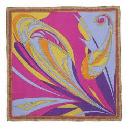 Drape Ties Emilio Pucci Scarves Swirl Paisley And Geometric Print