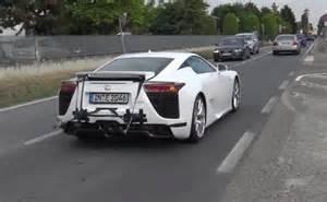 Lexus V10 Lamborghini Spotted Testing Lexus Lfa V10 Sound