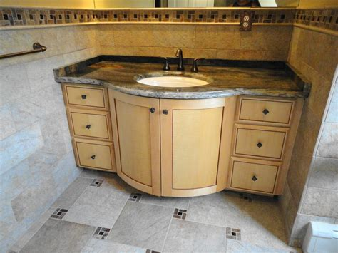 made curly maple bathroom vanity by oak mountain