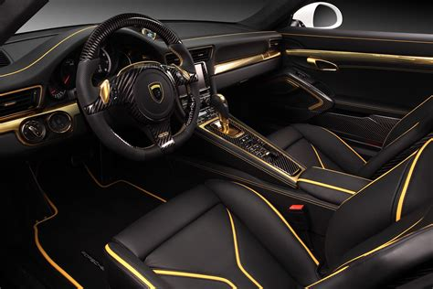 porsche stinger interior porsche 911 turbo stinger gtr by topcar has 24k gold
