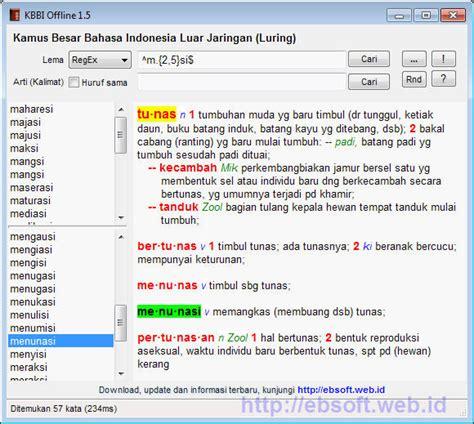 blogger kbbi baru kbbi offline 1 5 mendukung pencarian dengan regular