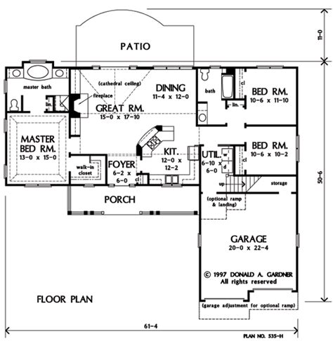 david gardner house plans home plan the griffin by donald a gardner architects