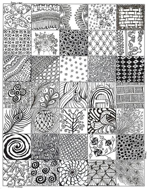 zentangle pattern collection after my first 4 zentangles here is the collection of