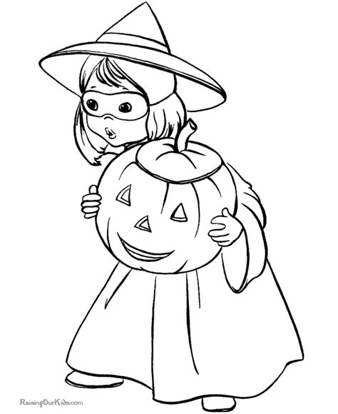 cute witch coloring page kids halloween coloring pages 001