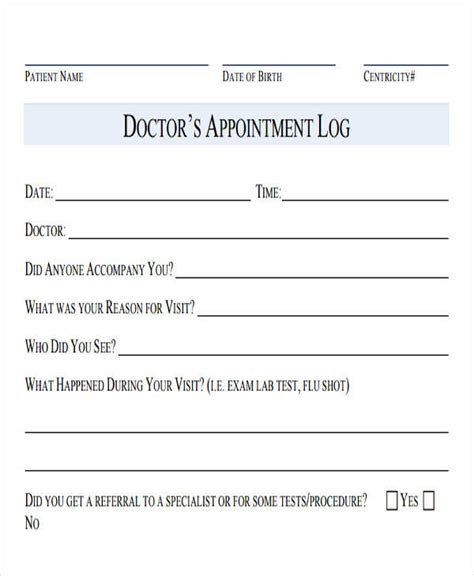 Medical Appointment Template Bing Images Doctor Appointment Slip Template