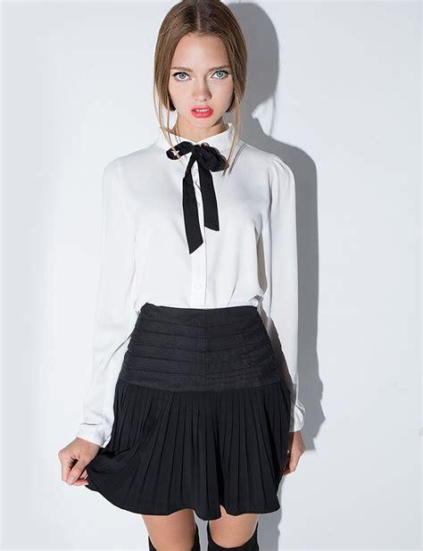 colette ribbon neck tie blouse fashion inspiration