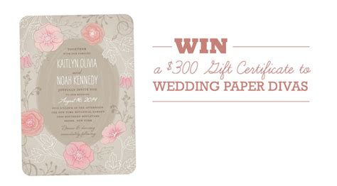 Wedding Paper Divas Gift Certificate by Wedding Paper Divas A 300 Giveaway Green Wedding
