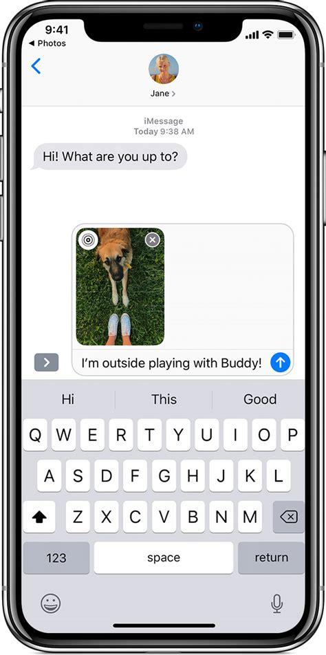 send photo video  audio messages   iphone ipad