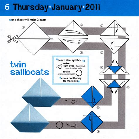 Origami Calender - free coloring pages origami calendar modern paper