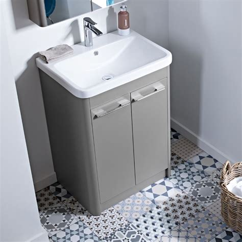 Grey Vanity Unit by Contour 60cm Grey Vanity Unit