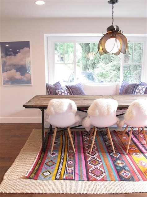 Layered Rugs Dining Room Layered Rugs Eclectic Dining Room Interiors