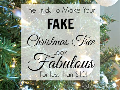 Diy Craft Projects For Home Decor update a fake christmas tree for less than 10 by 3 little
