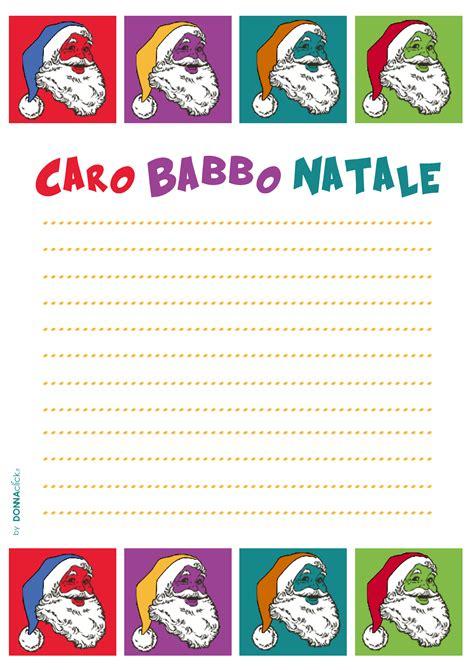 lettere di babbo natale ai bambini lettere per babbo natale da stare gratis foto www