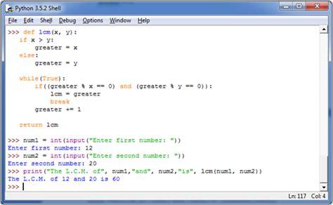 python tutorial javatpoint python find lcm javatpoint