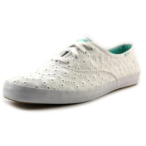 white eyelet sneakers keds chion eyelet us 9 white athletic sneakers uk