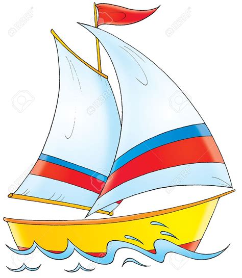 cartoon boat color sailing boat clipart cartoon pencil and in color sailing