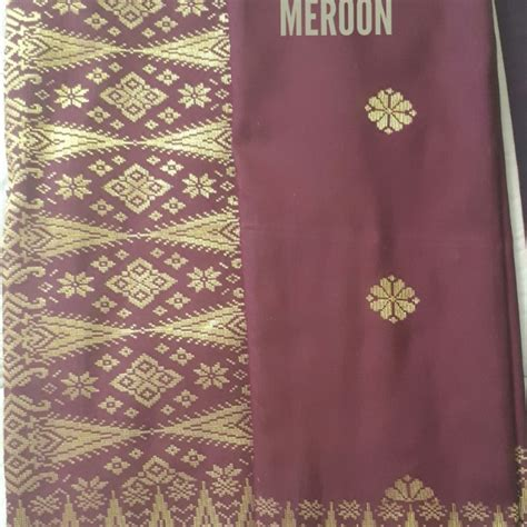 kain ela fuschia pink kain pasang songket tenun bunga tabur fesyen muslimah