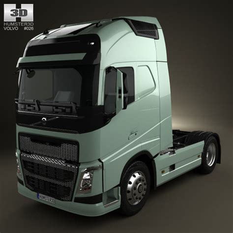 model volvo fh tractor truck  cgtrader