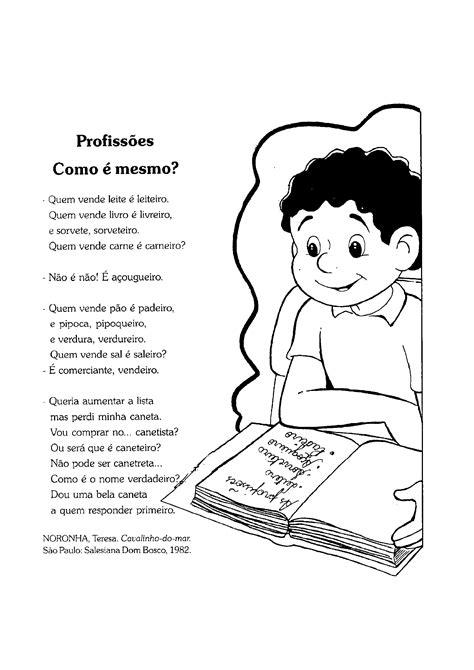 Poesia das profissões - Só Atividades