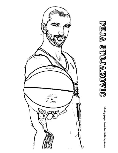 Coloring Pages Nba Basketball Players | nba coloring pages