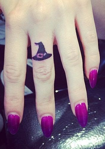 witch hat tattoo witch hat finger i need this me