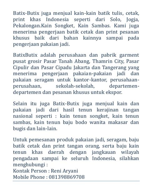 Grosir Batik Murah Batik Print Hm 95 batik pekalongan jual murah harga grosir promo