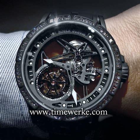 Roger Dubuis Horloger Skeleton Black roger dubuis excalibur spider skeleton flying tourbillon