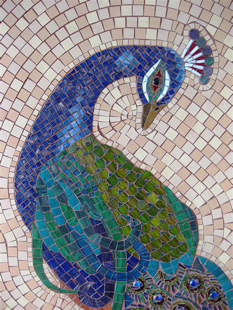 mosaic pattern animals peacock finished detail mosaic animals mosaics and peacocks