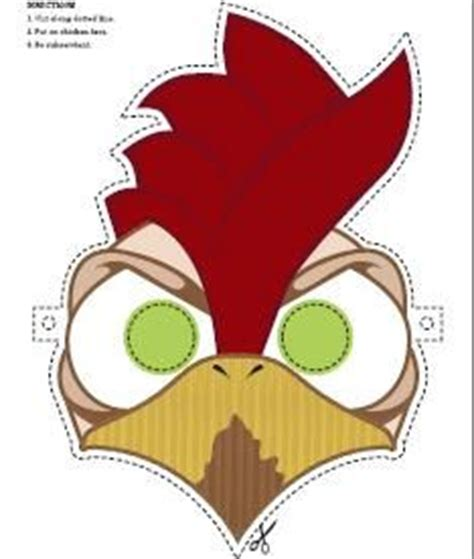 printable rooster mask free chicken mask masque tuto pinterest to be