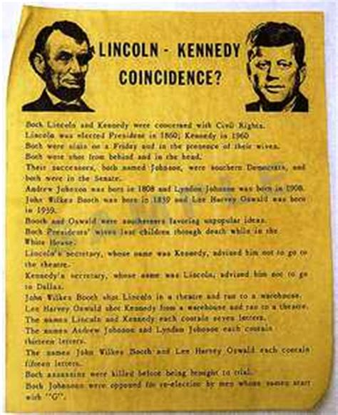 lincoln and kennedy assassination facts amazing facts amazing