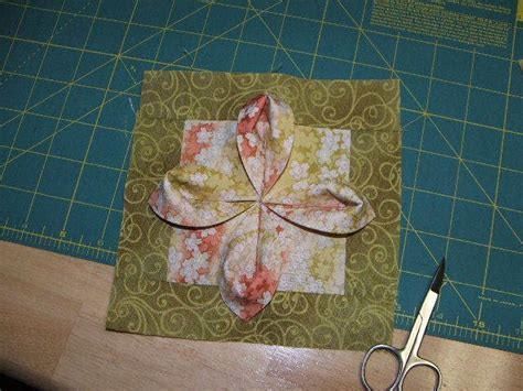 Fabric Origami Tutorial - fabric origami flower tutorial quilting blocks