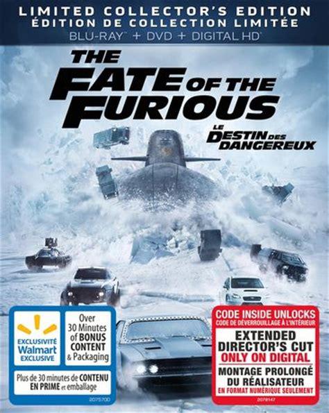 the fate of the furious extended version digital release le destin des dangereux sur blu ray dvd et format