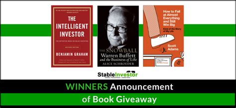 Book Giveaways 2017 - book giveaway results stable investor
