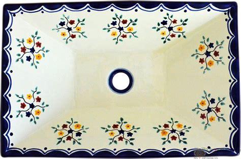 aufsatzwaschbecken rechteckig pensamiento mexambiente mexikanische waschbecken bunte