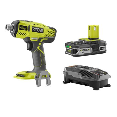 ryobi fan and battery ryobi 18 volt one lithium ion cordless 1 4 in