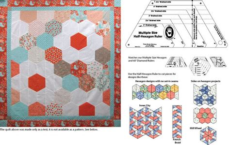 Half Hexagon Quilt Ruler by 17 Best Images About Hexagons On Quilt