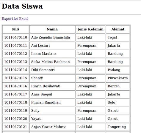membuat database dengan excel pdf cara membuat export data ke excel dengan phpexcel dan