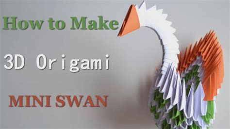 How To Make 3d Origami - how to make 3d origami swan how to