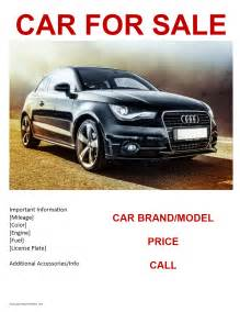 car for sale flyer template freewordtemplates