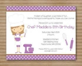 printable cooking invitation baking invitation cupcake invitation chef