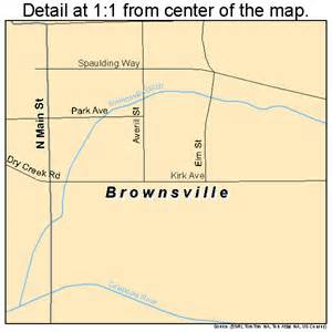 brownsville oregon map 4109050