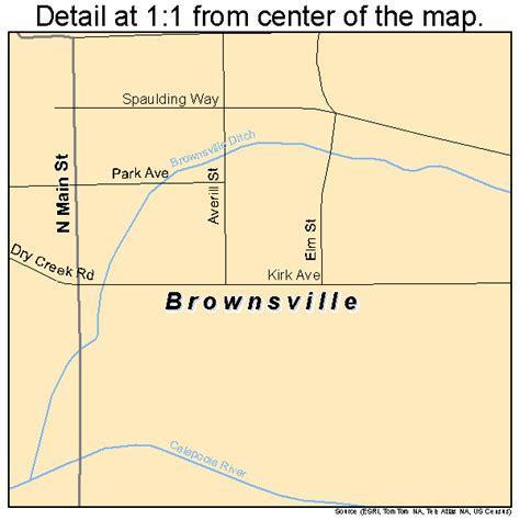 brownsville oregon map brownsville oregon map 4109050