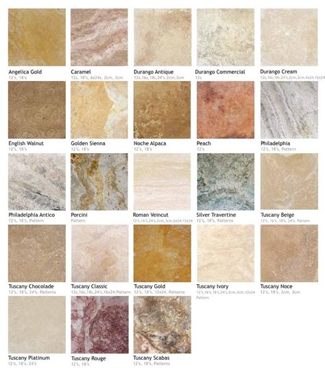 travertine tile colors